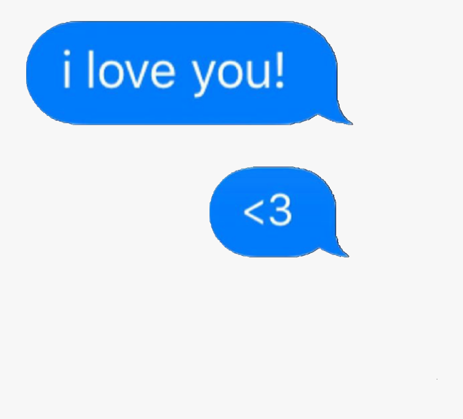 #text #message #textmessage #iphone #iphonemoji #cute - Message Iphone I Love You, Transparent Clipart