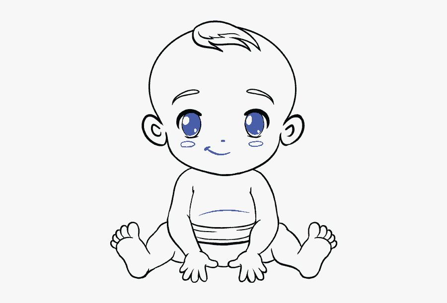 Clip Art How To Draw A - Draw A Baby, Transparent Clipart
