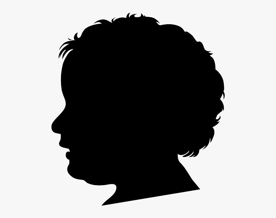 Silueta De Perfil De Mujer Con Contorno, Transparent Clipart