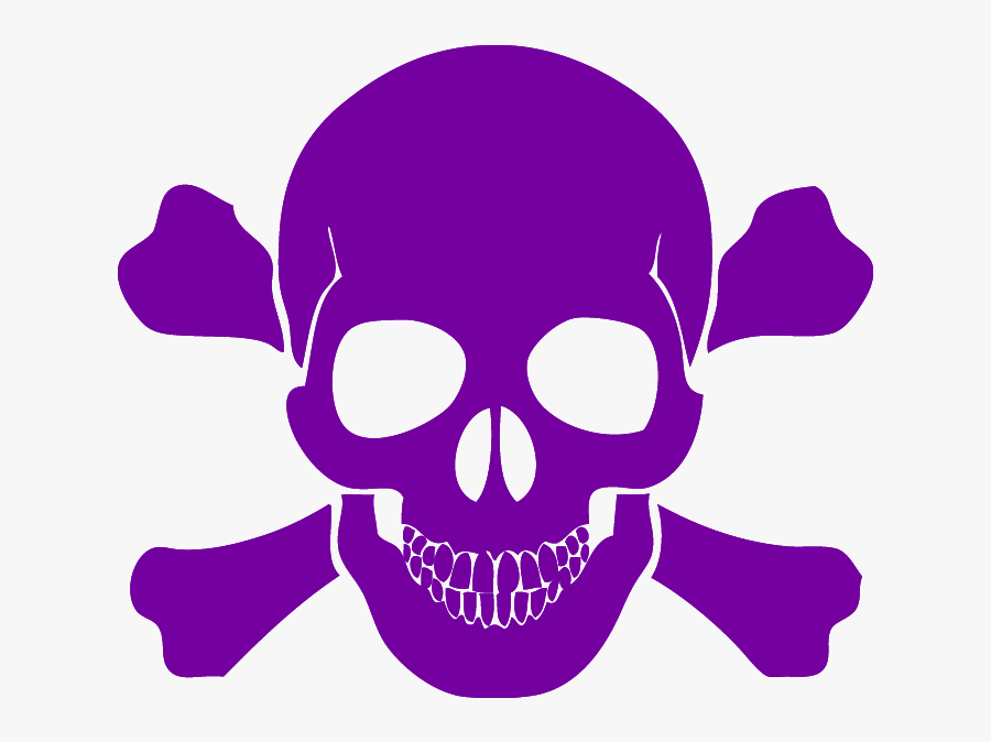 Skull And Cross Bones Free Download - Black Skull And Crossbones, Transparent Clipart