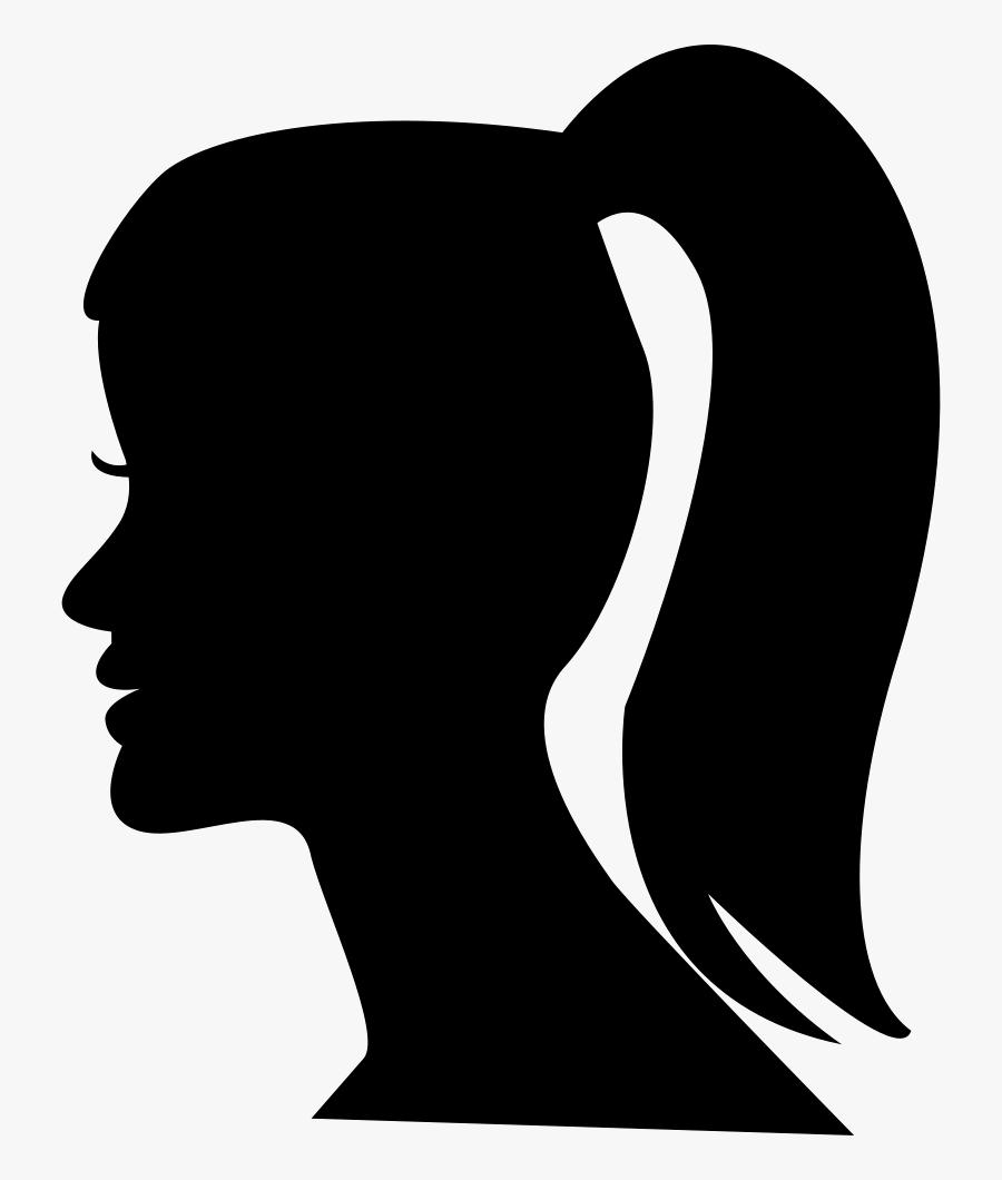 Transparent Ponytail Png - Ponytail Icon, Transparent Clipart