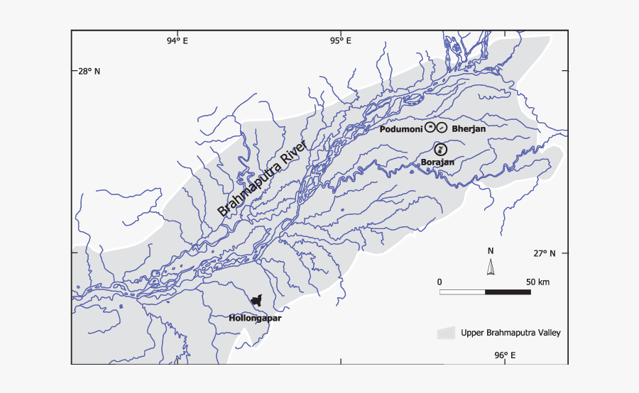 The Location Of The Four Lowland Rainforest Fragments - Map, Transparent Clipart