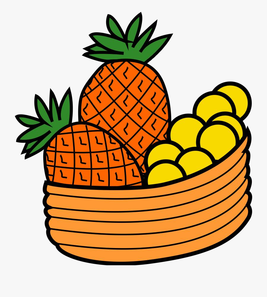 Clip Art Bowl Of Fruit Clip Art - Clipart Pineapple, Transparent Clipart