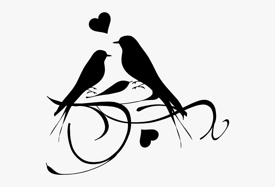 Love Tattoo Clipart Love Bird Love Birds Black And White Free Transparent Clipart Clipartkey