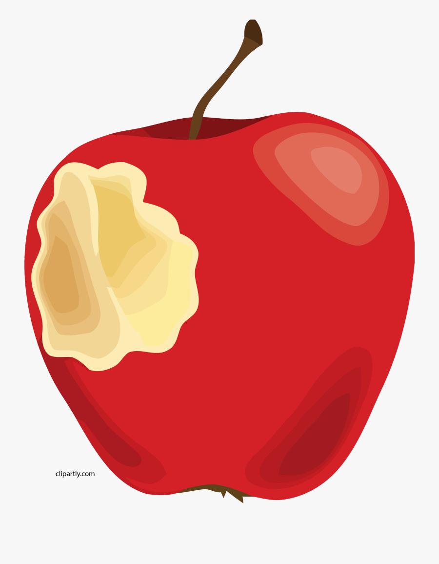 Snow White Apple Clip Art, Transparent Clipart