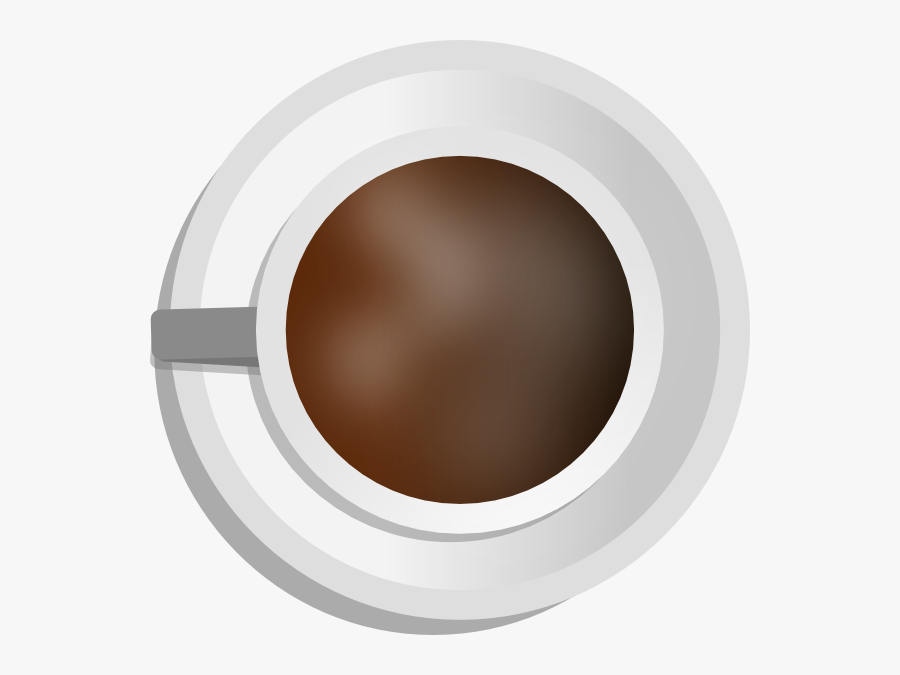 Coffee Cup Top View Clipart, Transparent Clipart