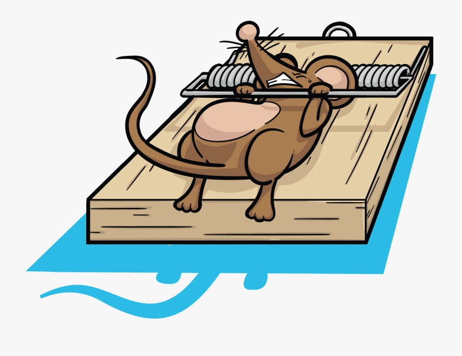 Picture Library Library Clipart Rat - Mouse In Trap Cartoon, Transparent Clipart