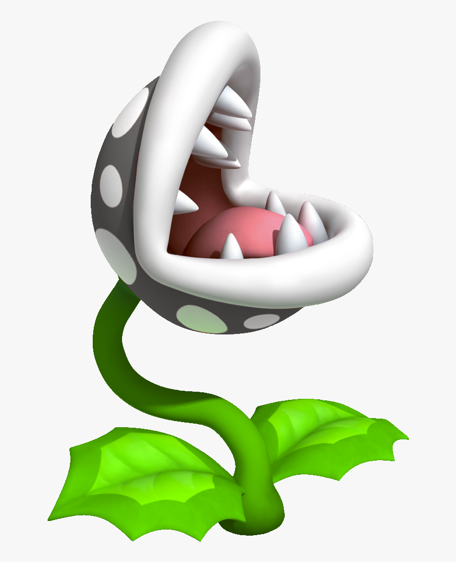 Inky Piranha Plants Are Black Piranha Plants - Super Mario Venus Fly Trap, Transparent Clipart