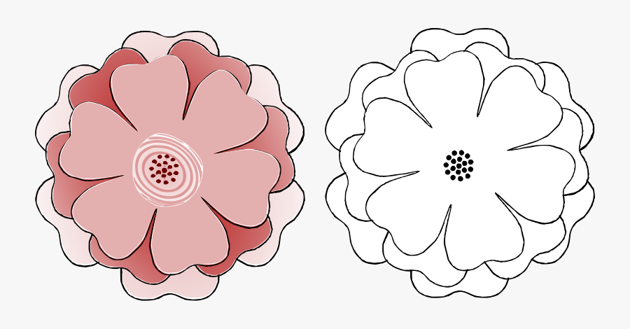 Flower Multi-choice 6 Petal S3 Template - Flower Template 6 Petals, Transparent Clipart