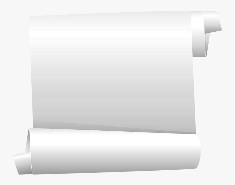 Paper Scroll Notebook Staple Parchment - Tubes Png Parchemins, Transparent Clipart