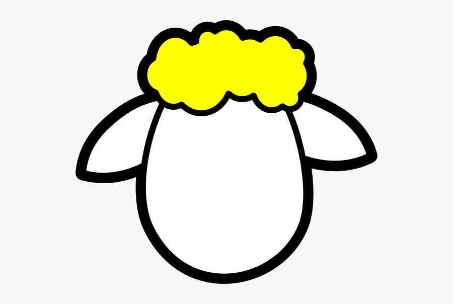 Peppermint Clipart Gumdrop - Sheep Face Coloring Page, Transparent Clipart