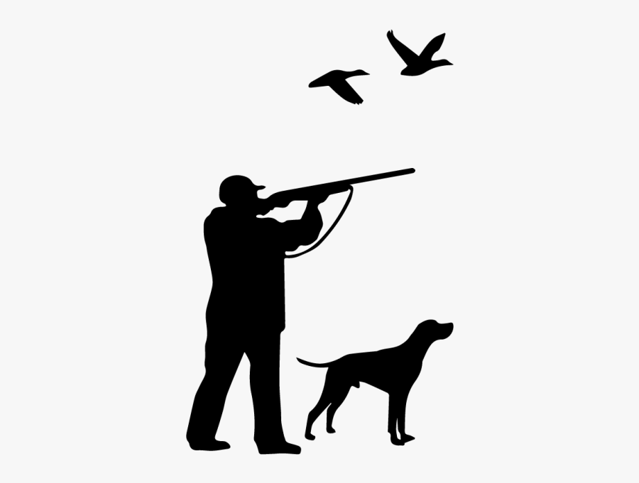 Weimaraner Duck Hunting Dog - Bird Hunting Hunter Sticker, Transparent Clipart