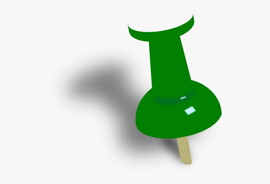 Clip Art Push Pin Yellow Pin, Transparent Clipart