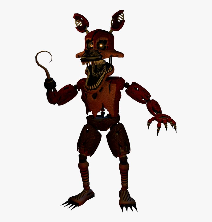 Nightmare Foxy Png Transparent Images - Fnaf Nightmare Foxy Png, Transparent Clipart