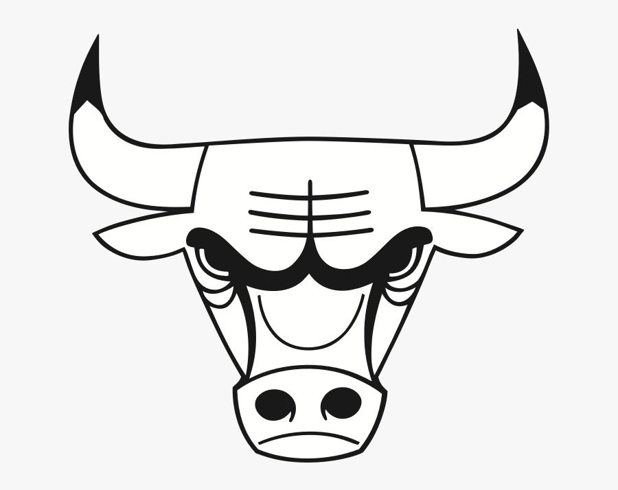 Download Hd Bull Drawing Chicago Bulls Logo White - Chicago Bulls Black And White Logo, Transparent Clipart