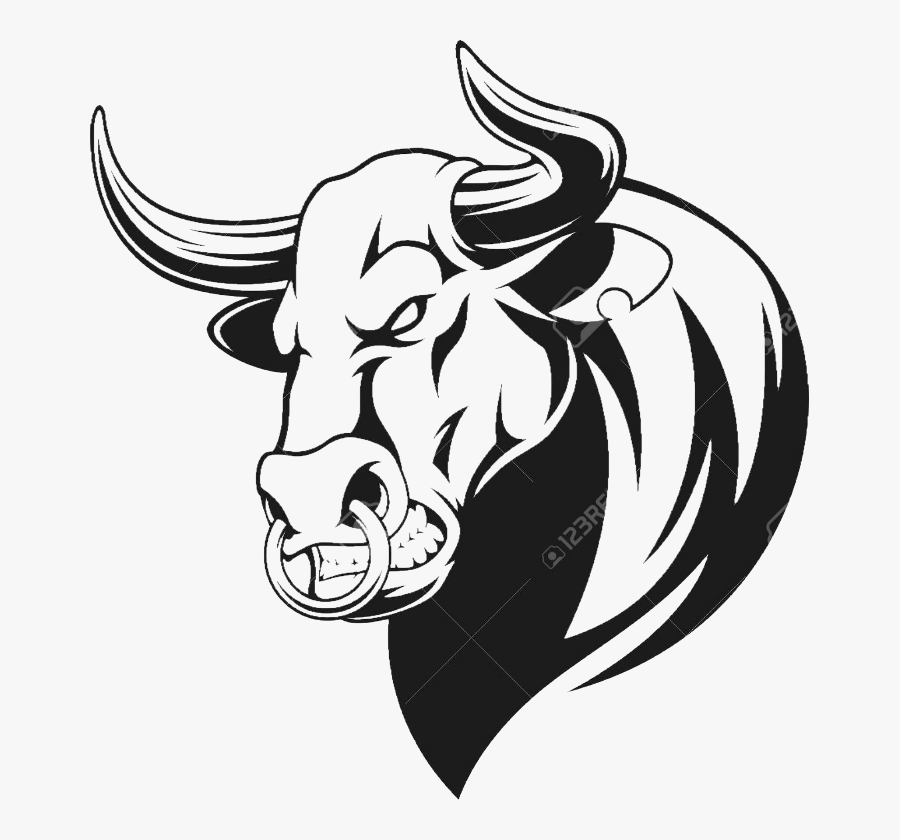 Bull Side Head Clipart , Png Download - Bull Head Vector, Transparent Clipart