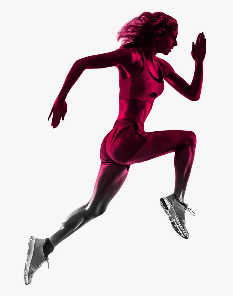 Transparent Runner Clipart - Running Athlete Png, Transparent Clipart
