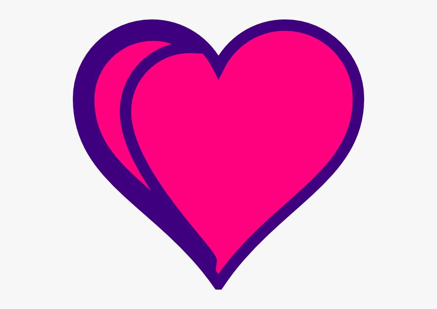 Red Heart Outline Clip Art