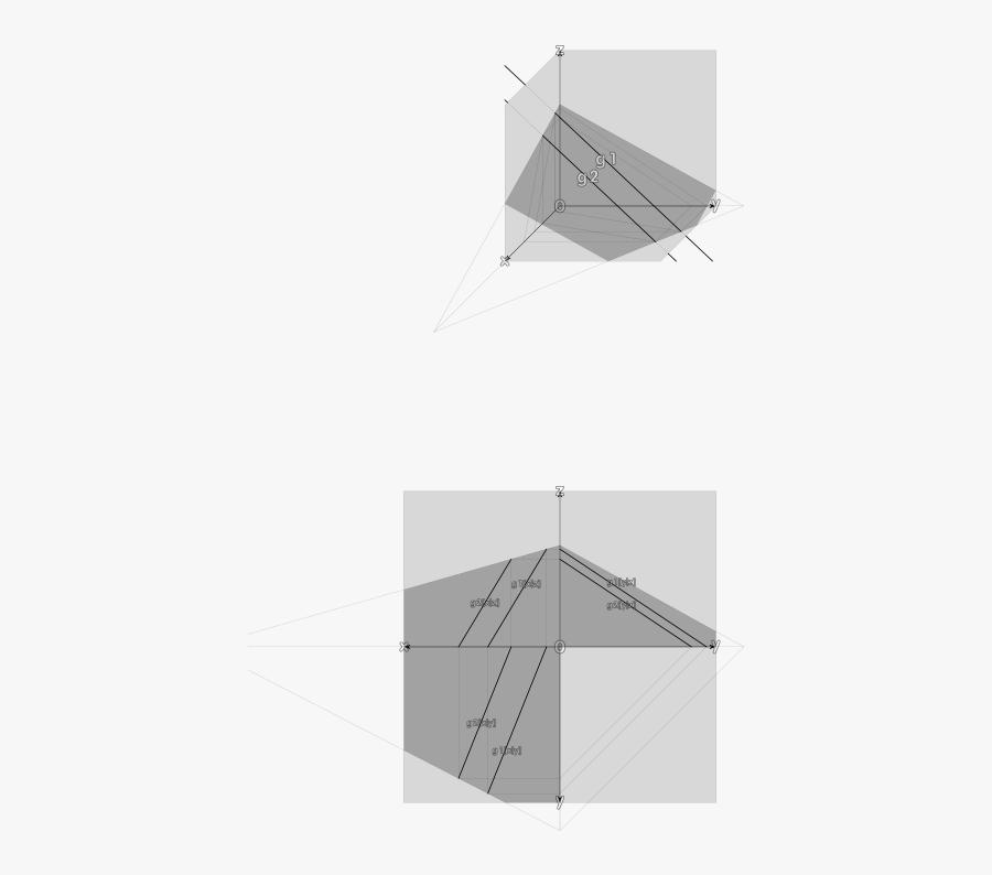 "Free Clip Art ""plane Thru Two Parallel Lines, Ebene - Parallel, Transparent Clipart"