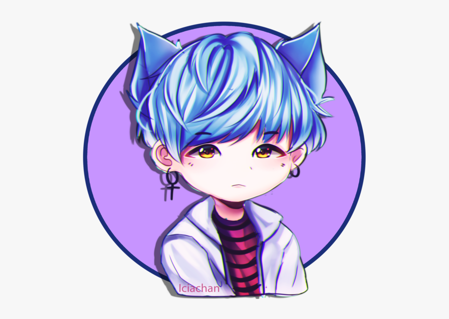Anime Clipart Bts - Chibi Suga Bts Drawings, Transparent Clipart