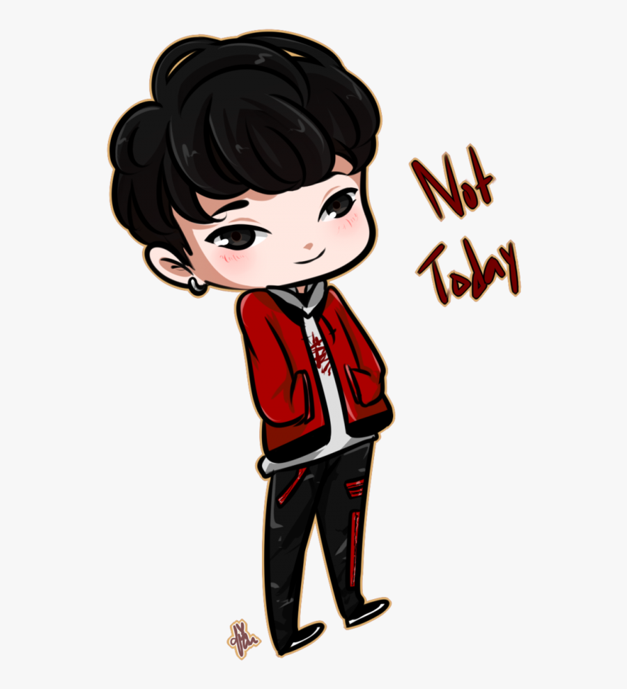 Bts Suga Drawing Not Today, Transparent Clipart
