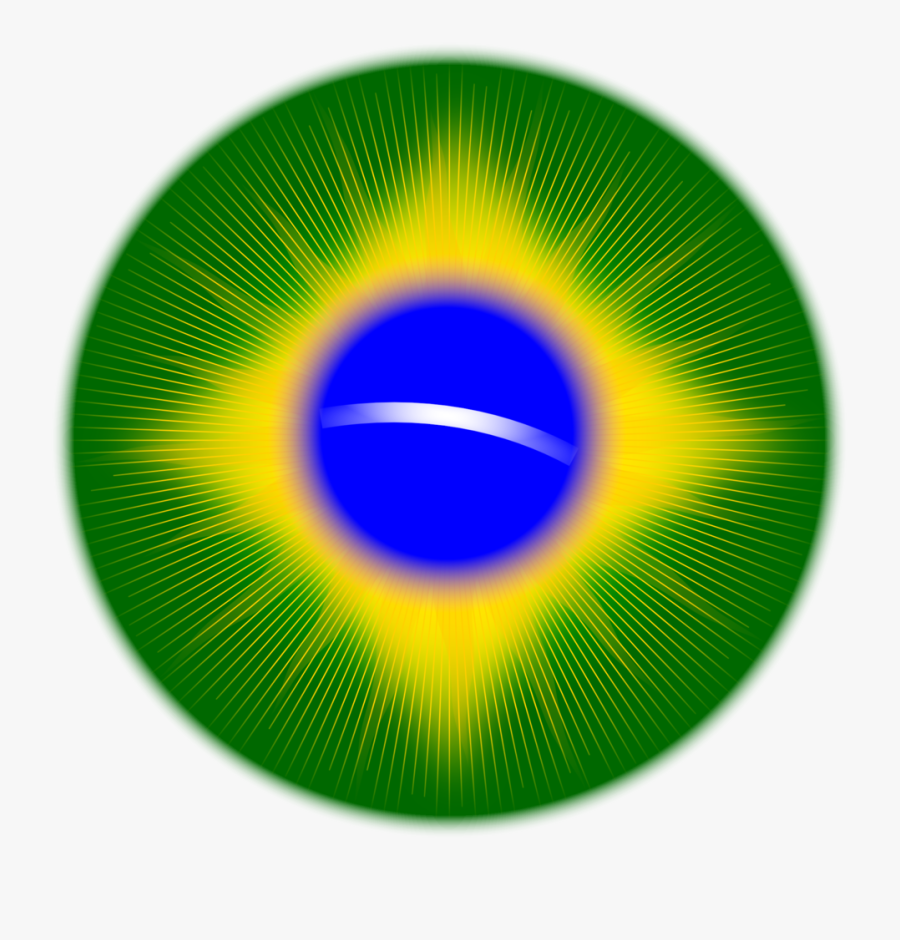 Rounded Brazil Flag - Flag Of Brazil, Transparent Clipart