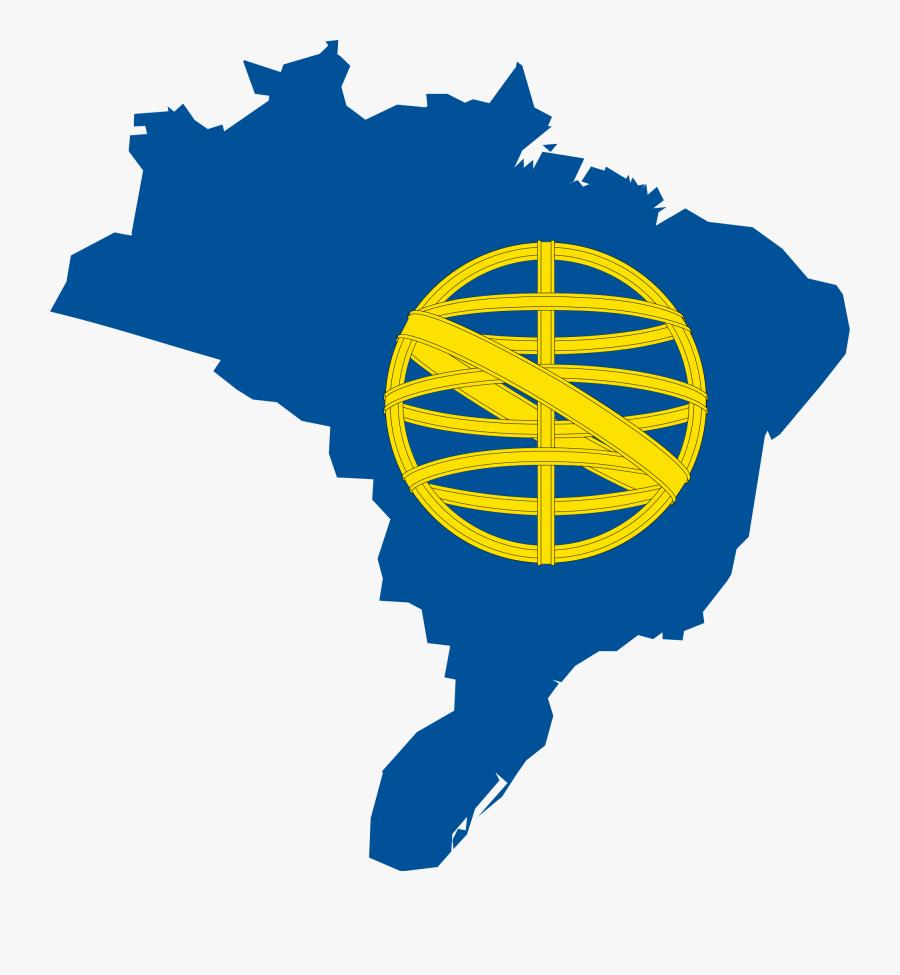Flag Map Of Kingdom Of Brazil - Kingdom Of Brazil Flag, Transparent Clipart