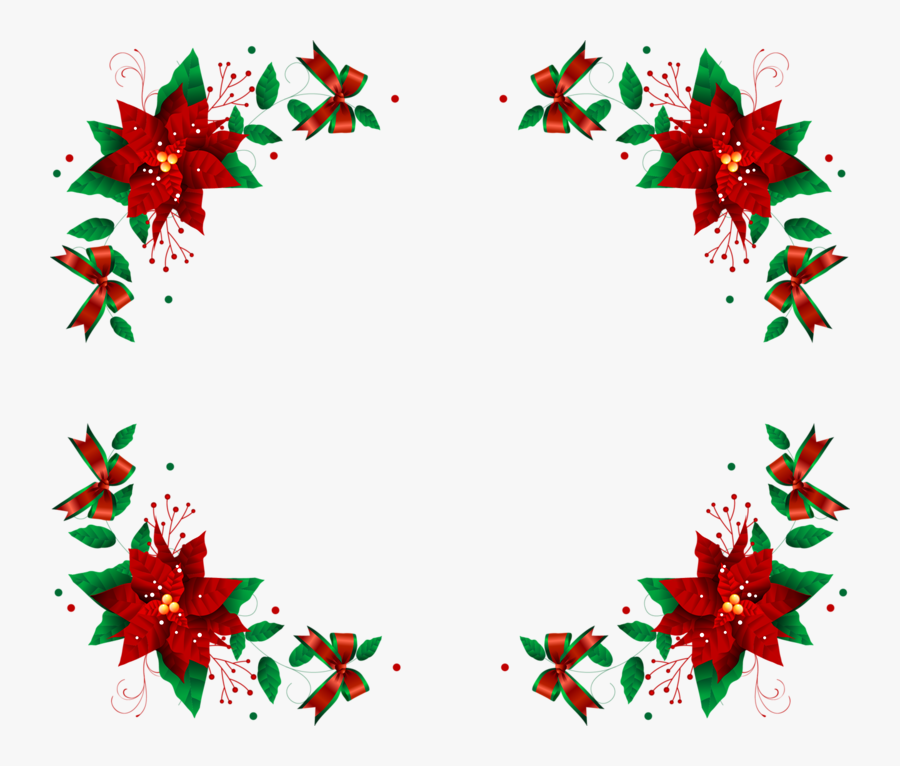 Christmas Border Picture Frame, Transparent Clipart