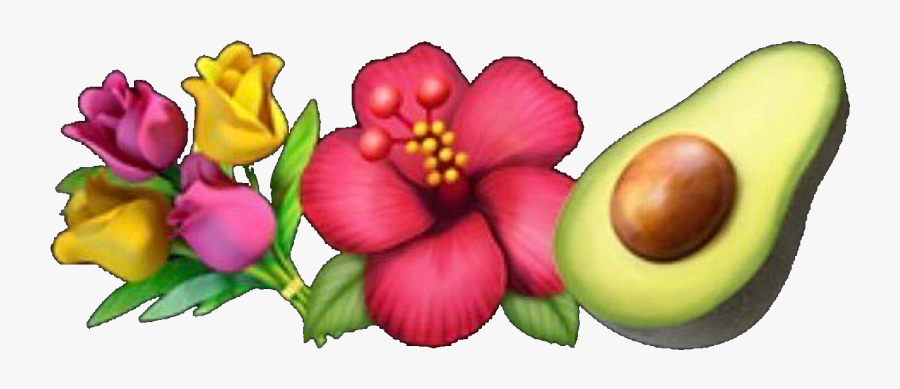 #emoji #emojis #emojicombo #guacamole #flower #flowers - Aesthetic Emoji Combo Png, Transparent Clipart