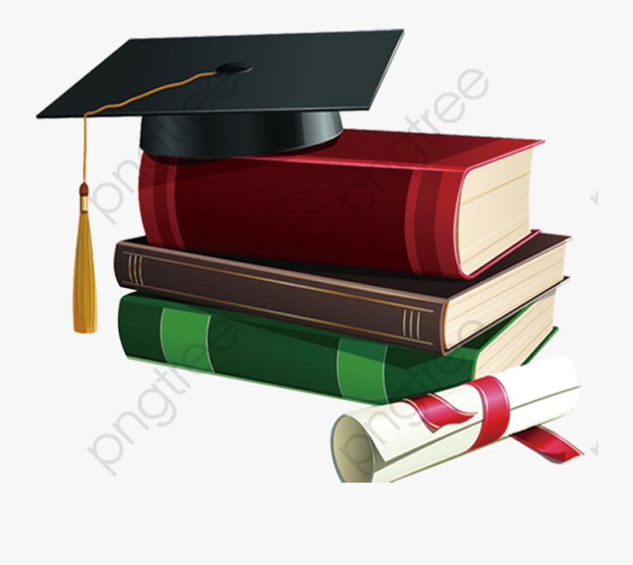 Transparent Diploma Clipart Black And White - Birretes De Graduacion Y Libros, Transparent Clipart
