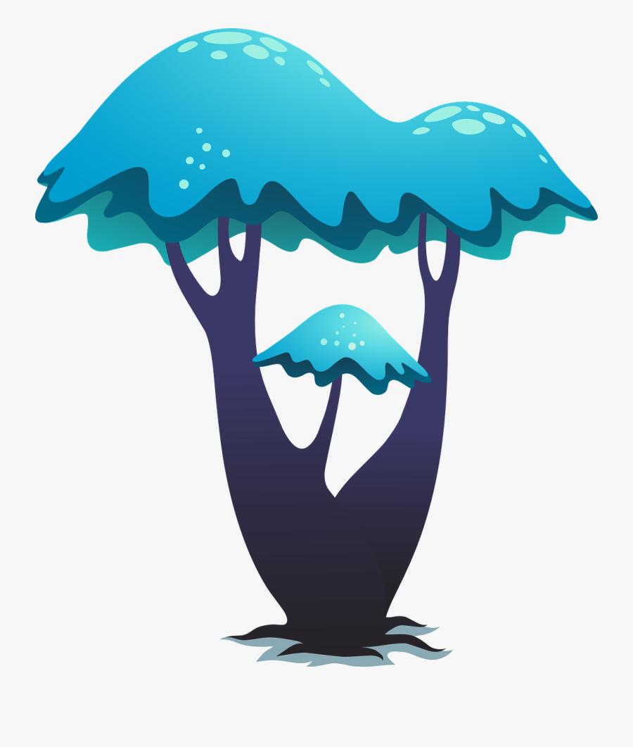 ต้นไม้ การ์ตูน ธรรมชาติ, Transparent Clipart