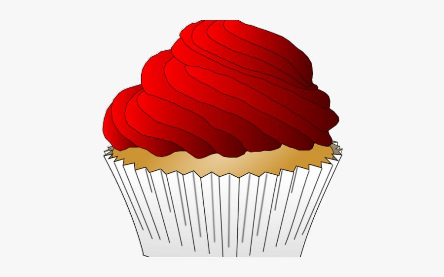 Red Velvet Cupcake Clipart, Transparent Clipart