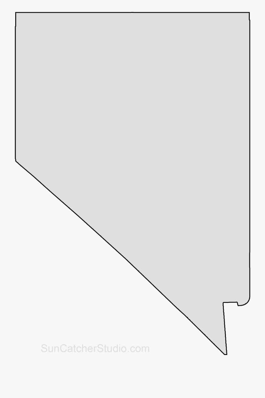 Clip Art Map Printable Shape Stencil - Nevada State Shape Png, Transparent Clipart