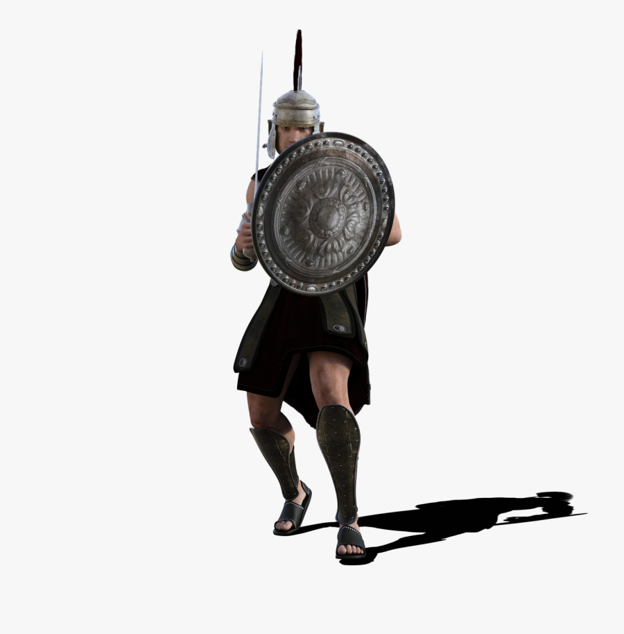 Gladiator Rome Roman History Png Image - Roman Soldier Png, Transparent Clipart