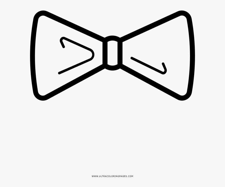 bow tie coloring page free transparent clipart clipartkey bow tie coloring page free