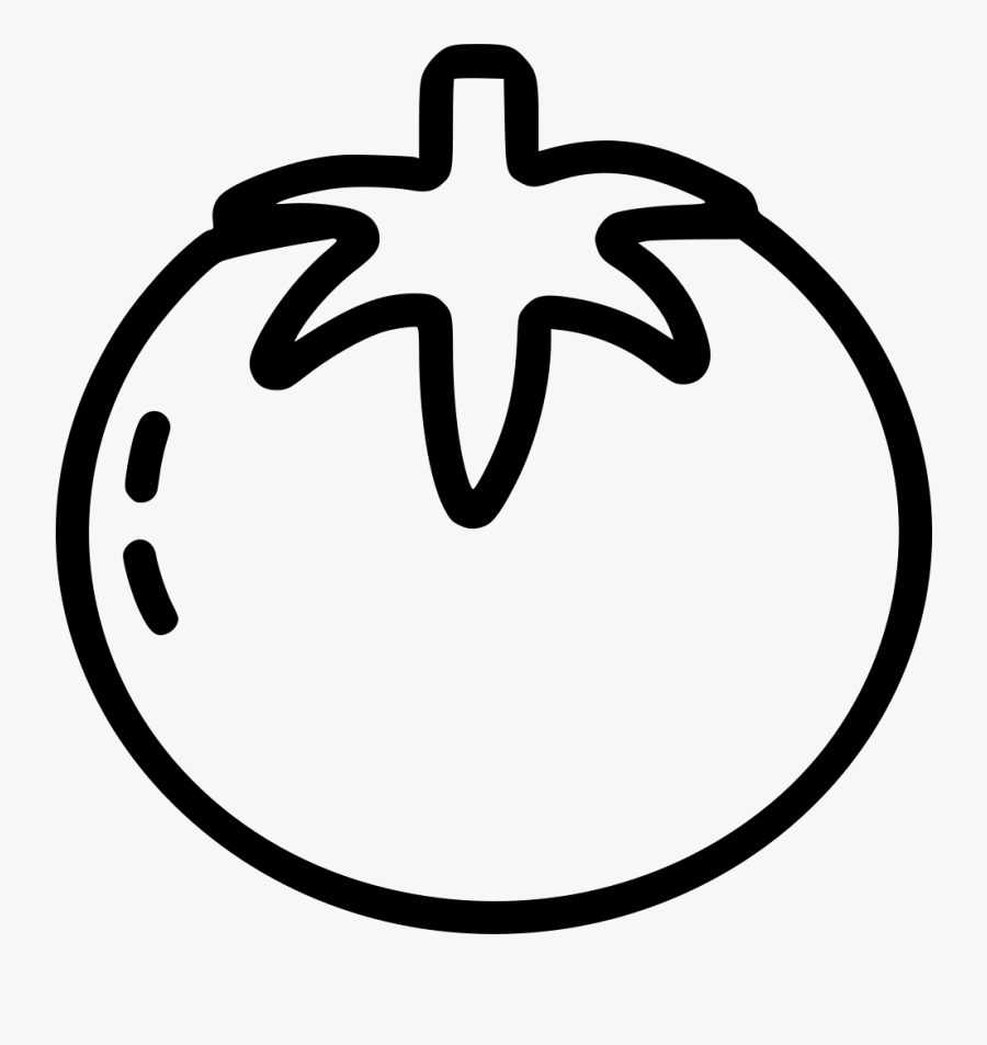 Transparent Tomato Png - Tomato Clipart Black And White Png, Transparent Clipart