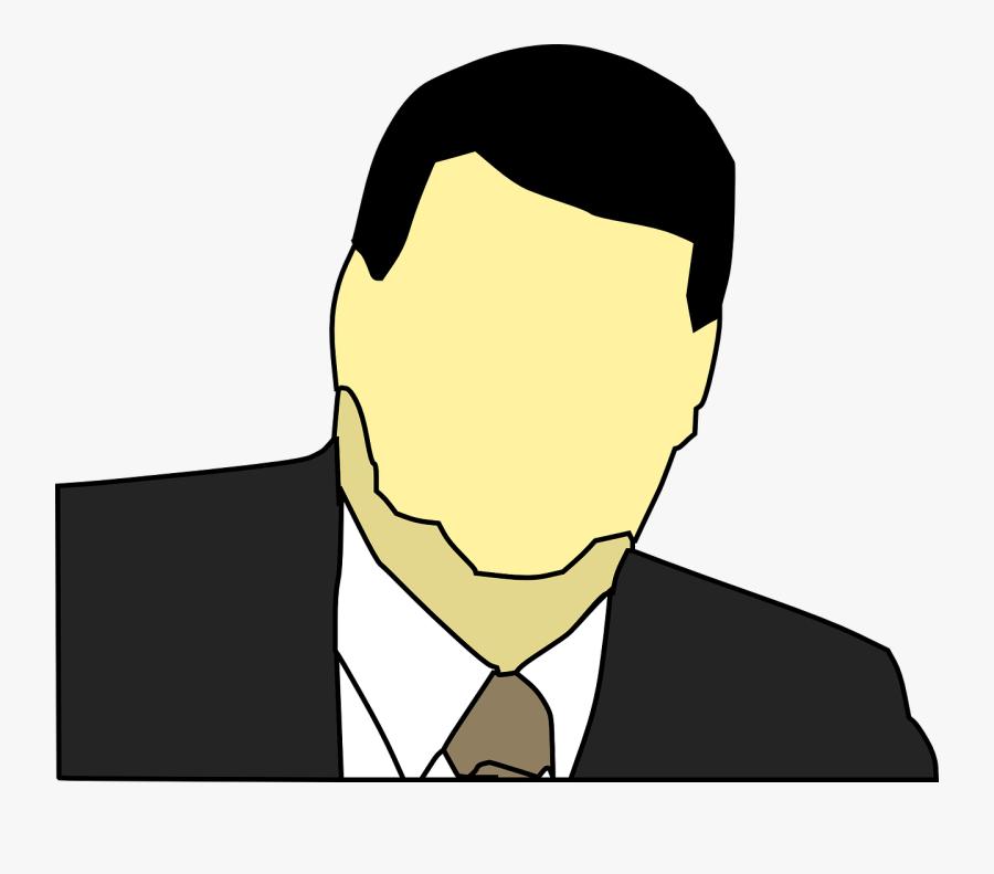 Suit Guy Transparent Cartoon, Transparent Clipart