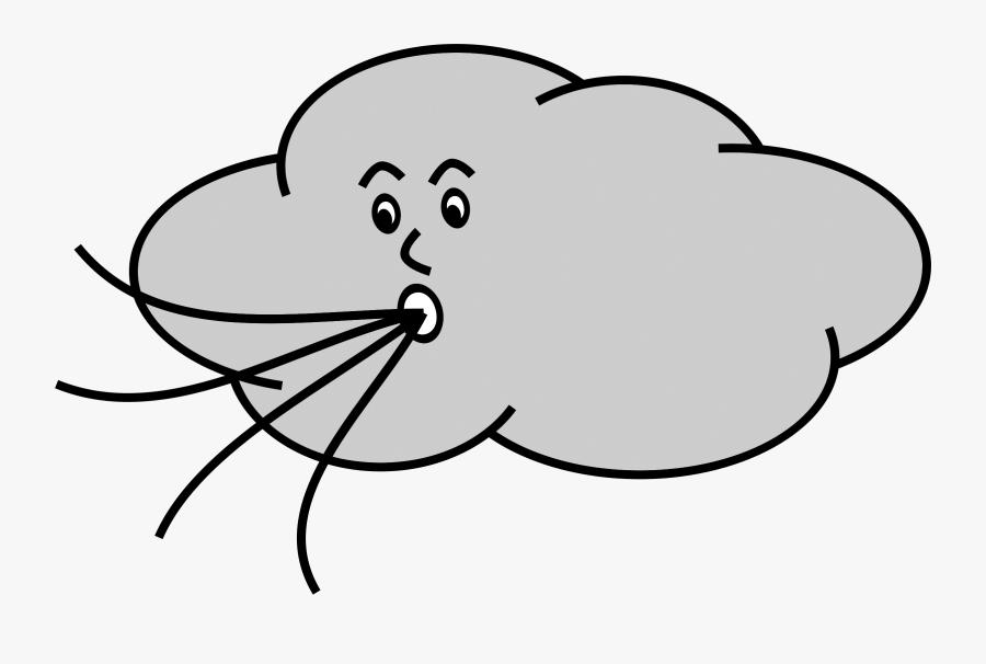 Transparent Breeze Clipart - Wind Blowing Gif Cartoon, Transparent Clipart