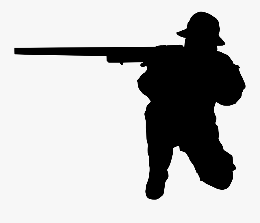 Man Shooting Silhouette - Person Shooting Silhouette Png, Transparent Clipart