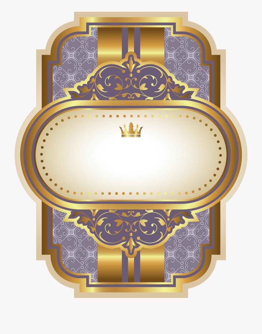 Luxury Template Labels, Transparent Clipart