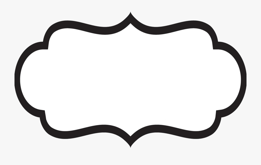 Transparent Folder Clipart Black And White - Label Shape, Transparent Clipart