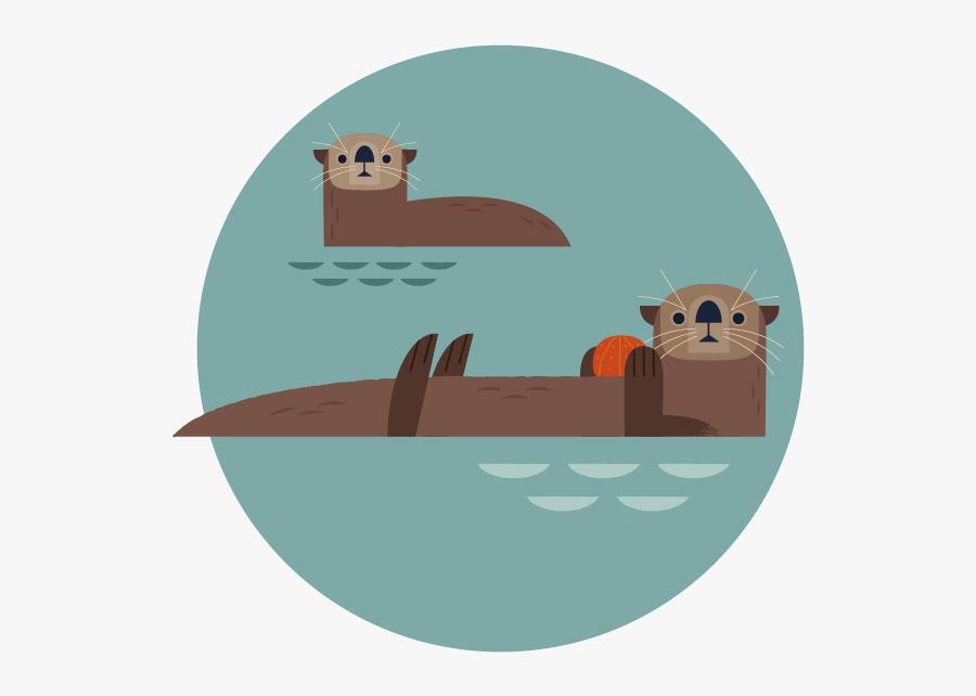 Groundhog Clipart Sea Otter - Cartoon, Transparent Clipart