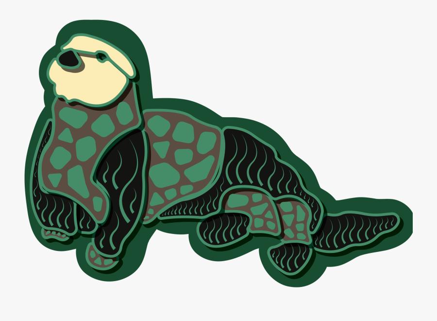 Sea Otter Sticker - Illustration, Transparent Clipart