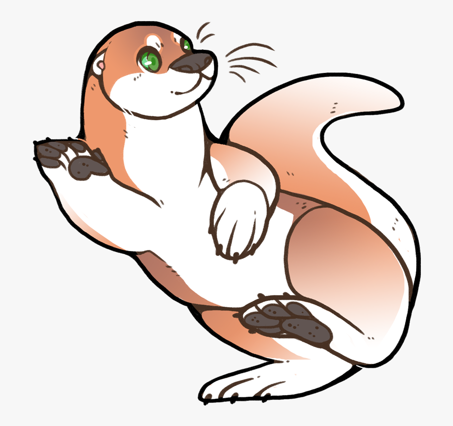 Drawing Furry Otter Transparent Png Clipart Free Download - Cartoon, Transparent Clipart