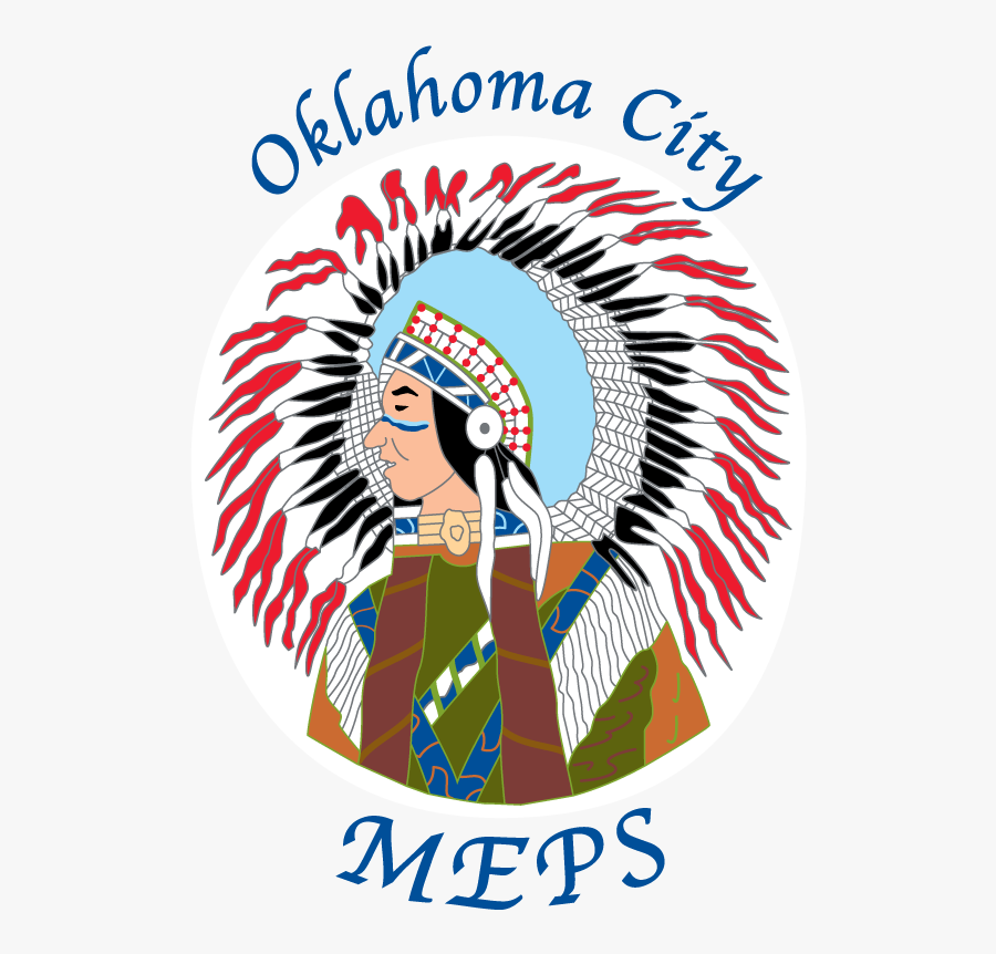 Oklahoma City Meps Indian Head - Poster, Transparent Clipart