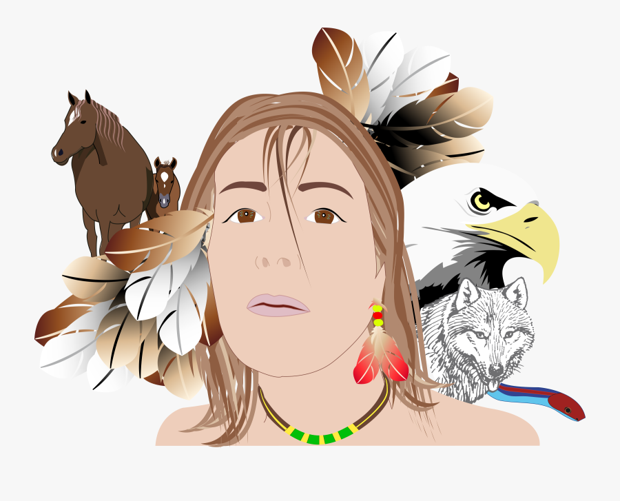 Indian Girl Person Woman Face Png Image - Bald Eagle Clipart, Transparent Clipart