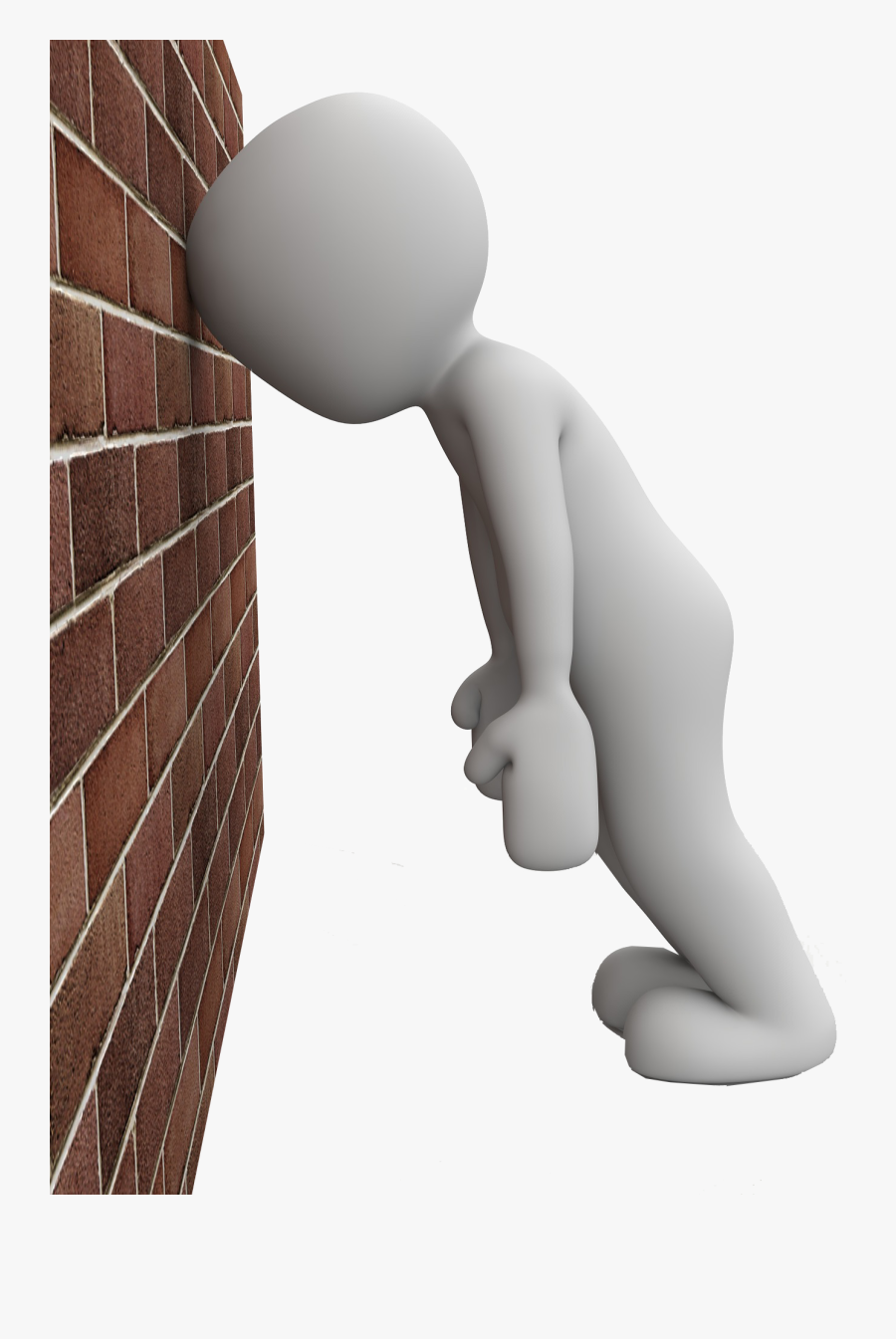 Transparent Banging Head Against Wall Clipart - Bang Head Against Wall Clipart, Transparent Clipart