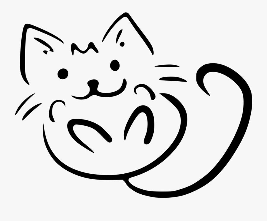 Kitten Cat Sticker Decal Zazzle - Cat Drawing On A Mug, Transparent Clipart