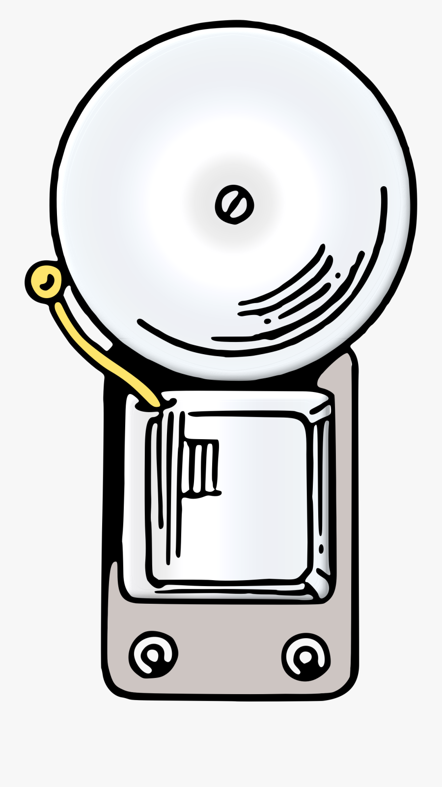 Line Art,electrical Supply,electric Bell - Electric Bell Png, Transparent Clipart