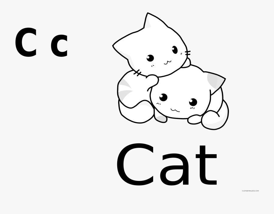 Transparent Cute Kitty Png - Cute Cat Cartoon Png, Transparent Clipart